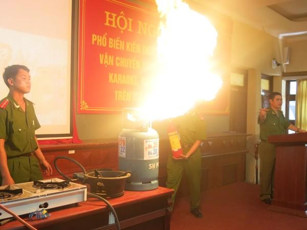 CBCS đưa ra tình huống cháy gas tại gia đình và hướng dẫn cách xử lý an toàn