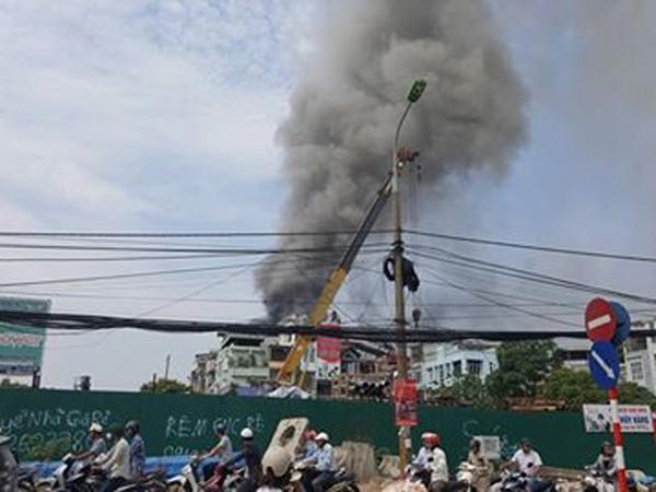 Khu vực xảy hỏa hoạn được xác định là khu nhà tạm cho thuê làm nhà xưởng kinh doanh