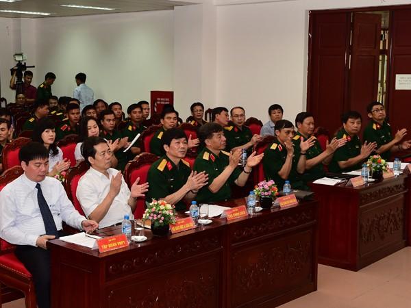 """Các đại biểu tham dự buổi lễ phát động cuộc thi """"Tìm hiểu 70 Ngày thương binh- liệt sỹ"""""""