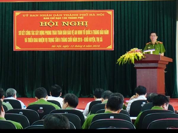 Thiếu tướng Đinh Văn Toản, phát biểu chỉ đạo tại hội nghị