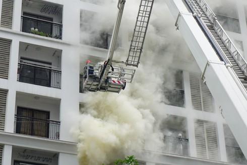 Diễn tập phương án chữa cháy, cứu nạn, cứu hộ tại Times City ảnh 1