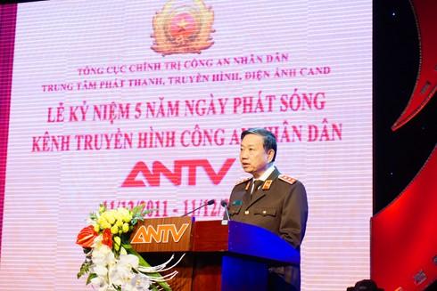 Thượng tướng Tô Lâm, Bộ trưởng Bộ Công an phát biểu tại buổi lễ