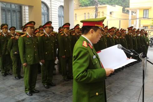 CBCS Phòng Cảnh sát ĐTTP về ma túy CATP Hà Nội báo công nhân dịp kỷ niệm ngày Truyền thống đơn vị