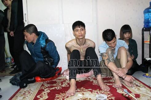 Các đối tượng tội phạm truy nã bị Phòng truy nã tội phạm CAHN bắt giữ