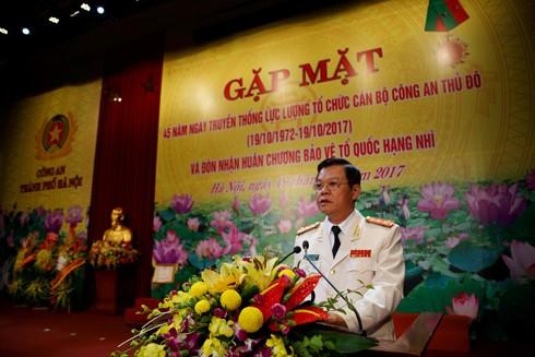 Đại tá Đào Thanh Hải - Phó Bí thư Đảng ủy, Phó Giám đốc ôn lại truyền thống 45 năm lực lượng Tổ chức cán bộ Công an Thủ đô