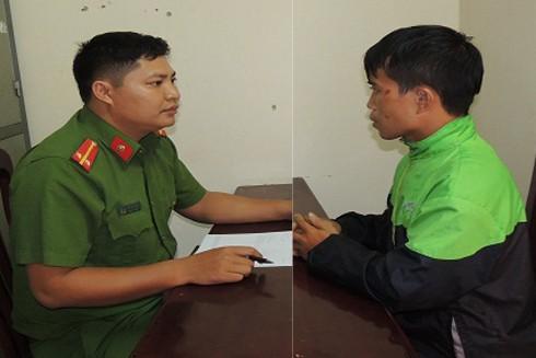 Cơ quan công an lấy lời khai đối tượng Định