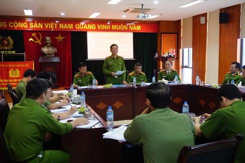 Thiếu tướng Đinh Văn Toản phát biểu chỉ đạo tại hội nghị