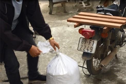 Chiếc xe máy Hợi sử dụng để chở ma túy từ Tây Bắc về Hà Nội