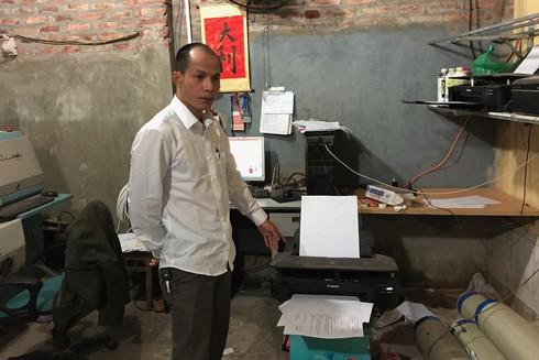 Đối tượng và xưởng in đang in nhiều mẫu giấy tờ giả mạo tại một số bệnh viện