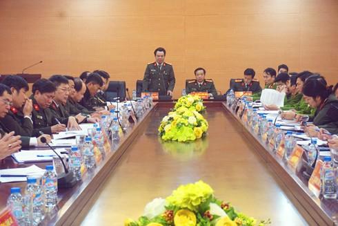 Đại tá Nguyễn Anh Tuấn, Phó Giám đốc CATP phát biểu, chỉ đạo tại hội nghị