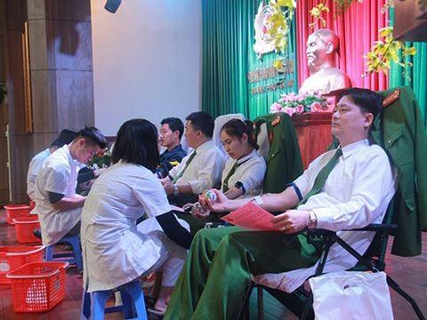 ĐVTN Cảnh sát PCCC TP Hà Nội tham gia hiến máu tình nguyện