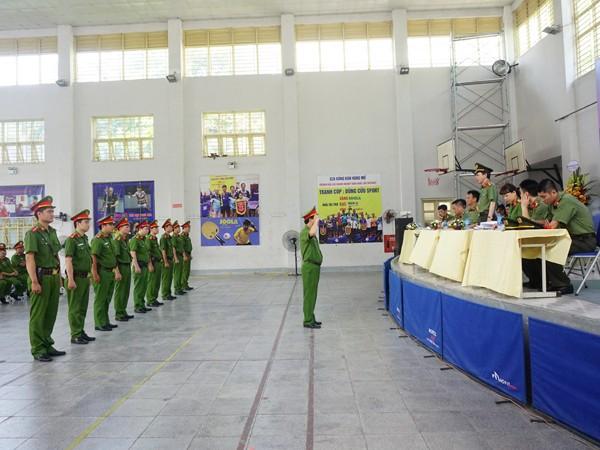 Phần thi Điều lệnh CAND của lực lượng CSKV
