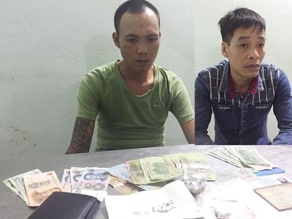 Đối tượng Đỗ Trọng Khánh và Lưu Bình Liêm cùng tang vật vụ án