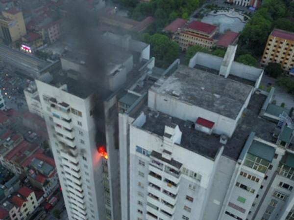 Một vụ hoả hoạn đã xảy ra tại tòa nhà chung cư Fodacon (Hà Đông, Hà Nội).