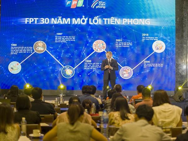Toàn cảnh buổi lễ công bố các sự kiện trong chặng đường 30 năm của FPT