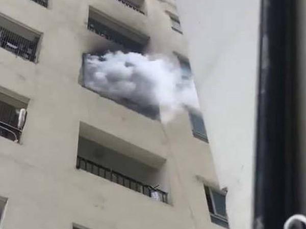 Đám cháy tại tầng 31 chung cư HH Linh Đàm