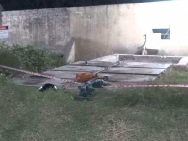Khu vực hố nối xảy ra vụ tai nạn đáng tiếc