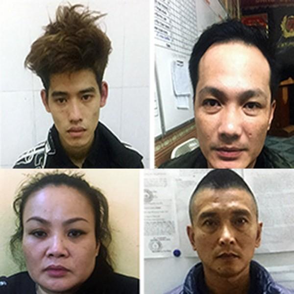 Các đối tượng liên quan bị cơ quan Công an bắt giữ