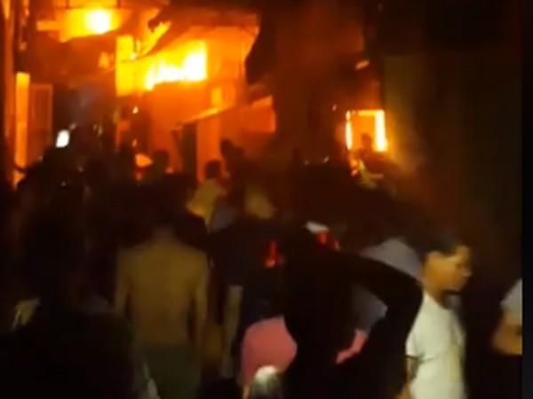 Đám cháy tại xã Chàng Sơn đã thiêu rụi 2 nhà xưởng kết hợp nhà ở của người dân