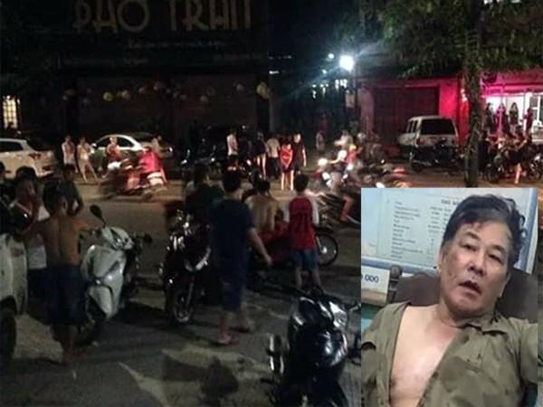 Khu vực ngôi nhà xảy ra vụ việc và đối tượng Bùi Xuân Hồng đã bị Công an bắt giữ