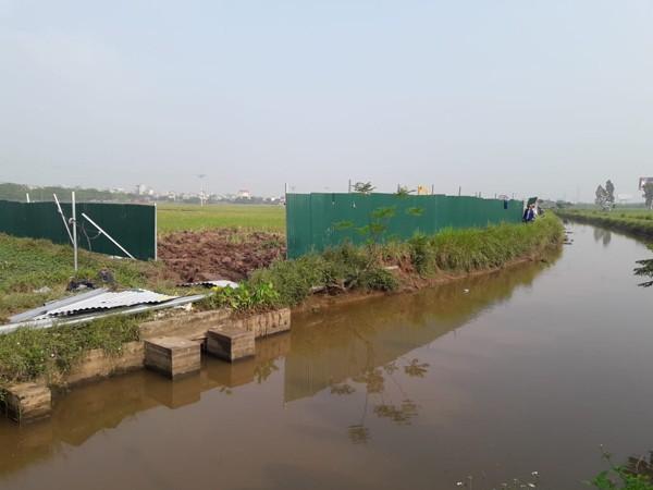Khu vực dự án trạm biến áp 110kv đang được quây rào tôn để triển khai các công đoạn