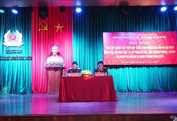 Thiếu tướng Nguyễn Anh Tuấn và Thiếu tướng Bùi Trọng Quỳnh đồng chủ trì hội nghị