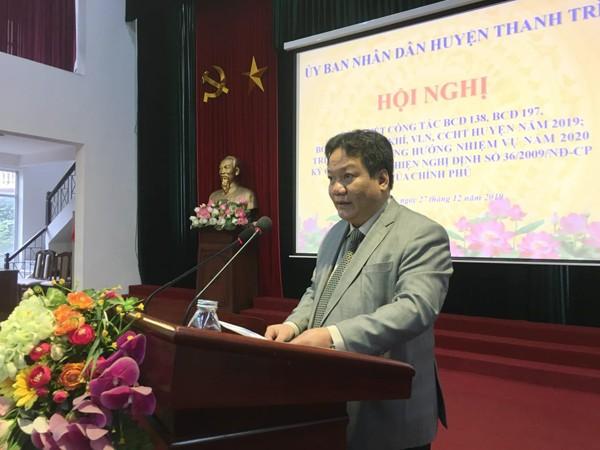 Ông Nguyễn Tiến Cường phát biểu chỉ đạo tại hội nghị