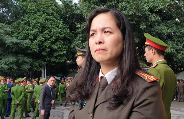 Trung tá Đào Thị Thu Trang, cán bộ Phòng Tham mưu - Công an thành phố Hà Nội