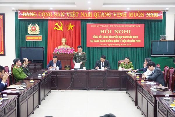 Thiếu tướng Nguyễn Anh Tuấn phát biểu chỉ đạo tại hội nghị