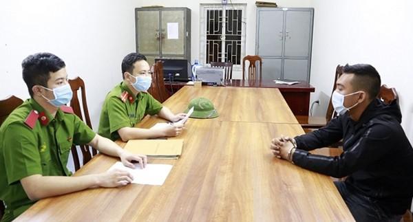 Cơ quan Công an ghi lời khai đối với Đào Xuân Anh