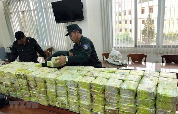 Tang vật trong vụ án bắt giữ 300kg ma túy đá Công an bắt tại thành phố Hồ Chí Minh