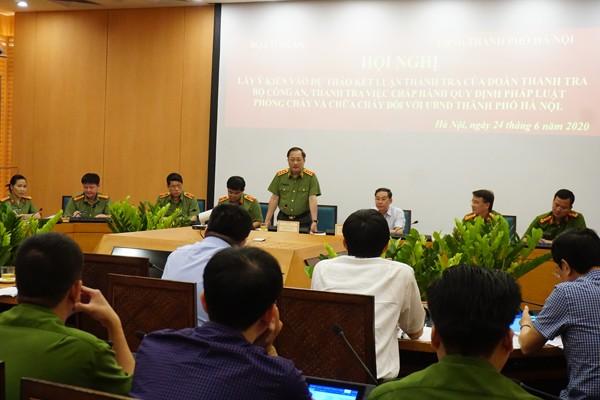 Thượng tướng Nguyễn Văn Thành, Thứ trưởng Bộ Công an phát biểu chỉ đạo tại Hội nghị