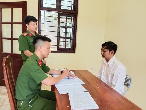 Cơ quan Công an ghi lời khai của đối tượng An