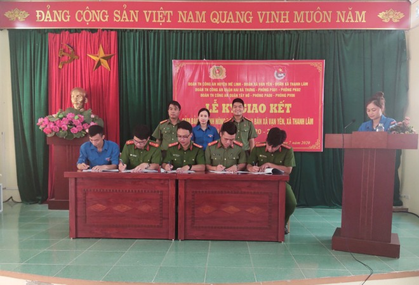 Đoàn thanh niên các đơn vị ký giao kết công tác phổi hợp đảm bảo ANTT