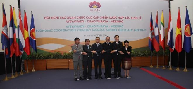 Đại biểu tham dự Hội nghị các quan chức cao cấp Chiến lược hợp tác kinh tế Aeawady - Chao Phraya - Mekong