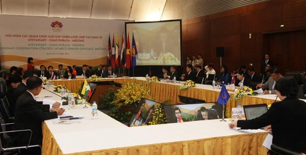 Toàn cảnh Hội nghị các quan chức cao cấp Chiến lược hợp tác kinh tế Aeawady - Chao Phraya - Mekong sáng 24-10