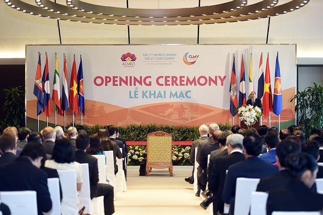 Toàn cảnh lễ khai mạc Hội nghị cấp cao ACMECS lần thứ 7, CLMV lần thứ 8