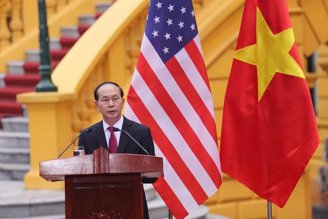 Chủ tịch nước Trần Đại Quang đánh giá cao chuyến thăm Việt Nam diễn ra ngay trong năm cầm quyền đầu tiên của Tổng thống Mỹ Donald Trump