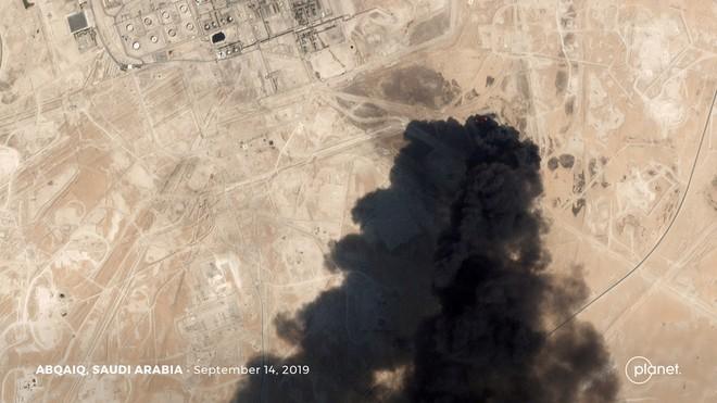Ảnh vệ tinh về vụ tấn công cơ sở lọc dầu của công ty Aramco, Arab Saudi hôm 14-9