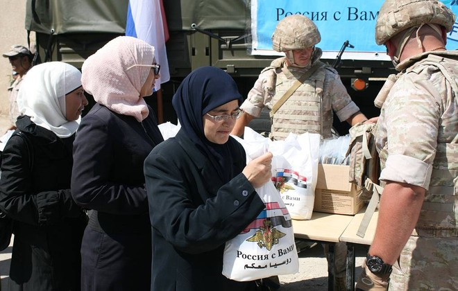 Nga phân phát gần 2,5 tấn thực phẩm tại tỉnh Homs của Syria