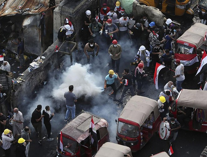 """Phong trào biểu tình mang tên """"cách mạng tuk tuk"""" ở Iraq ảnh 9"""