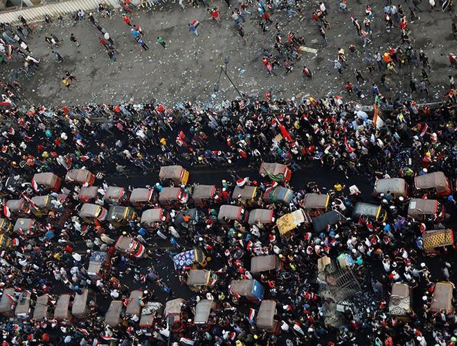 """Phong trào biểu tình mang tên """"cách mạng tuk tuk"""" ở Iraq ảnh 1"""