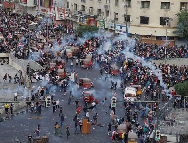 """Phong trào biểu tình mang tên """"cách mạng tuk tuk"""" ở Iraq ảnh 11"""