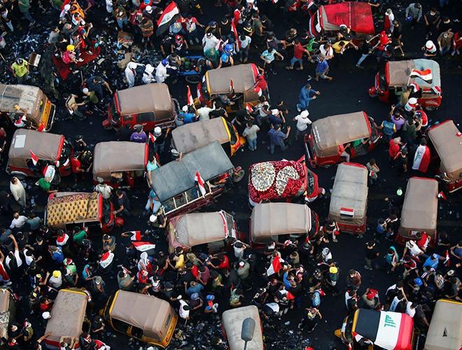 """Phong trào biểu tình mang tên """"cách mạng tuk tuk"""" ở Iraq ảnh 7"""