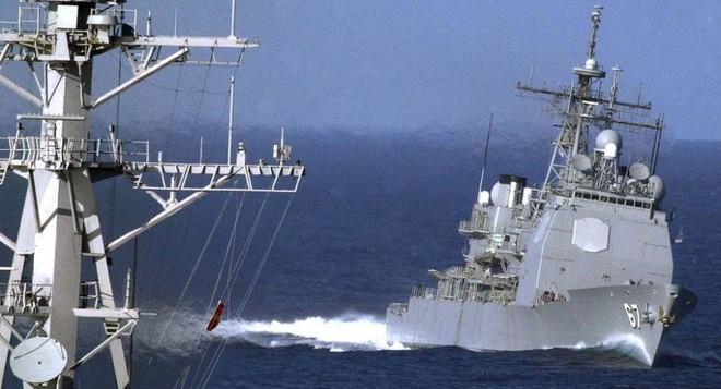Trung Quốc theo dõi sát tàu hải quân Mỹ đi qua eo biển Đài Loan