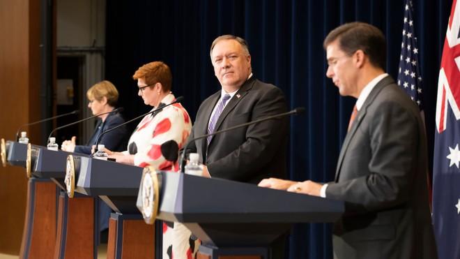 Bộ trưởng Mỹ - Australia ra tuyên bố chung chỉ trích Trung Quốc