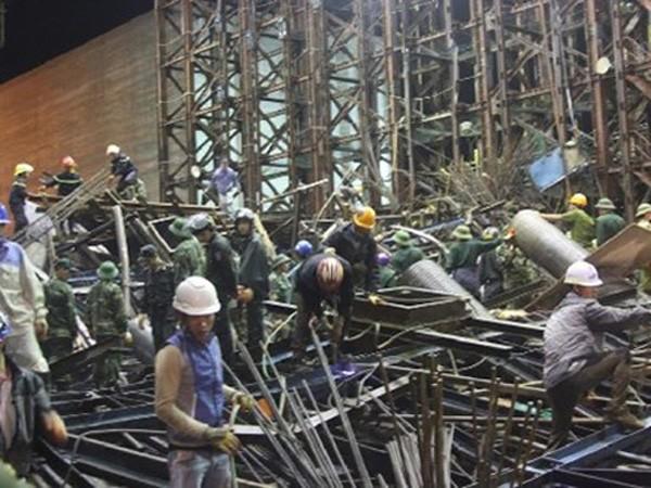 Sập giàn giáo công trình Formosa ở (Kỳ Anh – Hà Tĩnh) là do sự cố má phanh của hệ thống thủy lực không đảm bảo