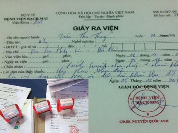 Hà Nội: Khởi tố đối tượng làm giả giấy tờ bệnh viện Bạch Mai và Y học cổ truyền