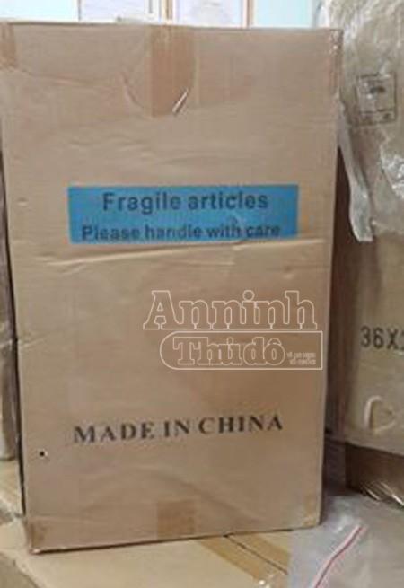 Bao bì các sản phẩm đều ghi xuất xứ từ Trung Quốc