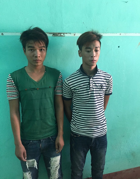 2 đối tượng Phan Thanh Sơn và Hoàng Quân